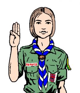 Salut scout  sans béret cérémonial
