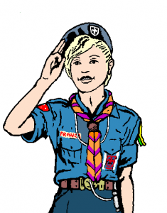 Salut scout  au béret cérémonial B