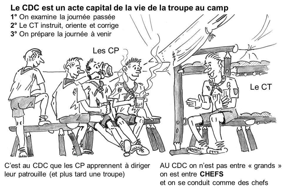 Conseil des chefs camp scoutisme