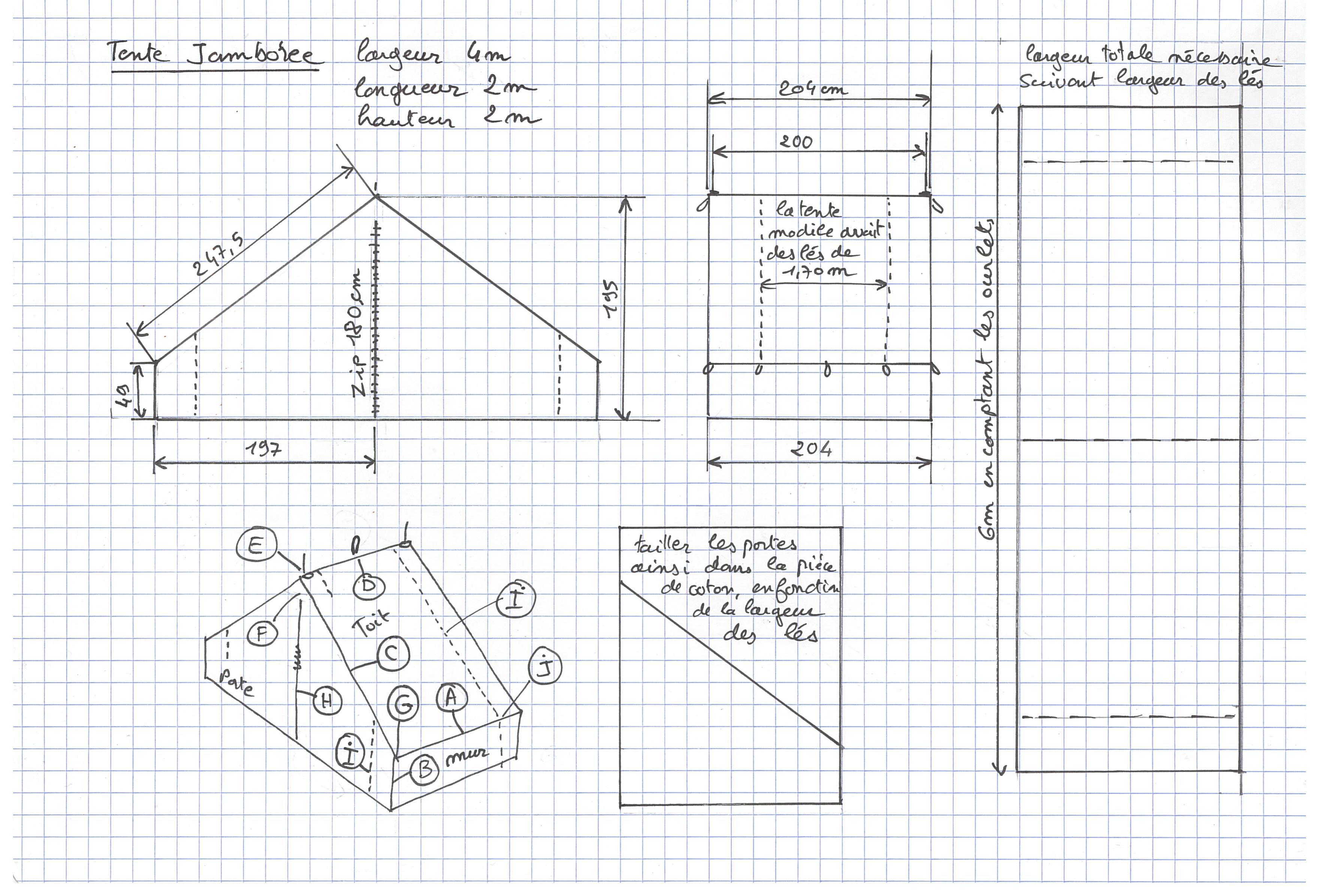 un patron de tente jamboree pour les scouts adroits. Black Bedroom Furniture Sets. Home Design Ideas