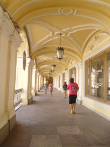 Les arcades des grands magasins.